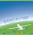 bangalore flight destination vector image