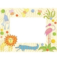 frame with animals vector image vector image