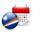 Icon of national day on marshall islands vector image