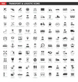 Transport And Logistic Black Icons Set vector image vector image