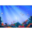 background with underwater cave vector image