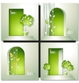 Card with door and tree vector image