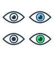 eye icons set on white background vector image