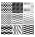 Geometric Monochrome Seamless Background Patterns vector image