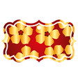 label classic flower sakura decoration vector image
