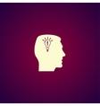 Pictograph of gear in head Creative Idea vector image