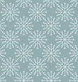 Snowflakes pattern seamless line art vector image