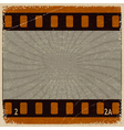 Vintage background with the image frame movie vector image