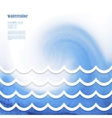 waves for design vector image