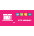 Web design social network background vector image