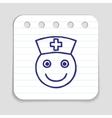 Doodle doctor nurse icon vector image