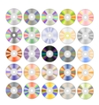 Set of Colorful Different Compact Discs vector image