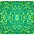 Seamless emerald floral pattern vector image vector image
