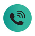 Thin line call icon vector image