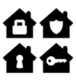 Home security icons set vector image vector image