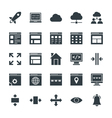 Design and Development Cool Icons 2 vector image