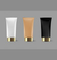 cream or cream tube isolated template for vector image