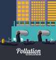 Pollution design over blue background vector image