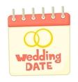 Wedding date icon cartoon style vector image