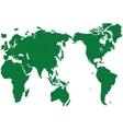 WORLD MAP GRASS GREEN vector image