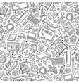 Cartoon Back to school seamless pattern vector image
