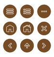 Icon navigation vector image