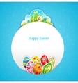 Blue Easter background vector image