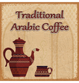 coffee pot and coffee cups vector image