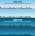 fort lauderdale skyline event banner vector image vector image