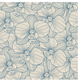 Blue lines orchid seamless pattern vector image