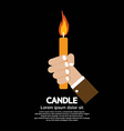 Candle In Hand vector image