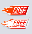 Free Delivery and Shipping labels vector image vector image
