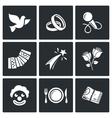 Wedding Agency icons vector image