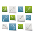 different kind of tools icons vector image vector image