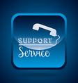 support service design vector image