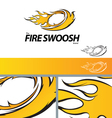Fire Swoosh Abstract Symbol Branding Design Elemen vector image