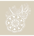 Hand-Drawn Abstract Henna Mehndi Flower Ornament vector image