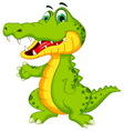 funny crocodile cartoon posing vector image vector image