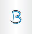blue black logo logotype letter b symbol vector image