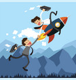 business assistance by rocket vector image