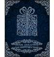 Christmas card with abstract present vector image