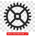 Clock Gear Eps Icon vector image
