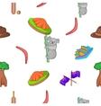Country Australia pattern cartoon style vector image
