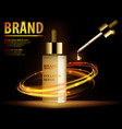 essence translucent contained ads gold makeup vector image