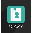 personal diary icon vector image