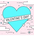 Valentines Day greeting card Line art design vector image