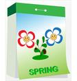 Wall tear off calendar spring vector image