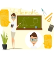 Back to school Math lesson vector image