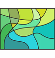 Multicolored stained glass window vector image