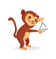 Musical animals monkey Triangle vector image